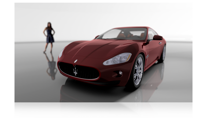 automotive maserati showroom